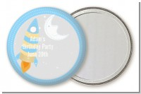 Rocket Ship - Personalized Birthday Party Pocket Mirror Favors