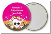 Rock Star Baby Girl Skull - Personalized Baby Shower Pocket Mirror Favors