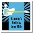 Rock Star Guitar Blue - Personalized Birthday Party Card Stock Favor Tags thumbnail