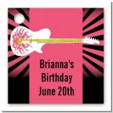 Rock Star Guitar Pink - Personalized Birthday Party Card Stock Favor Tags