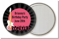 Rock Star Guitar Pink - Personalized Birthday Party Pocket Mirror Favors
