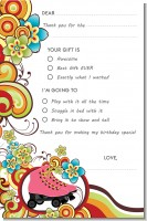 Roller Skating - Birthday Party Fill In Thank You Cards