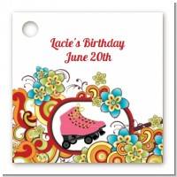 Roller Skating - Personalized Birthday Party Card Stock Favor Tags