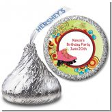 Roller Skating - Hershey Kiss Birthday Party Sticker Labels