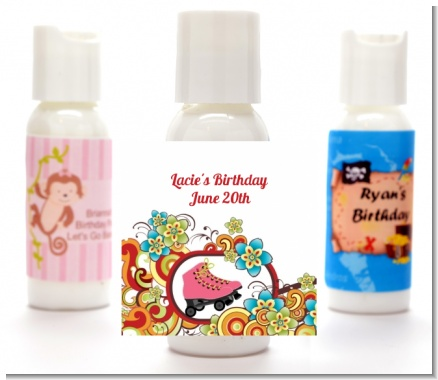 Roller Skating - Personalized Birthday Party Lotion Favors