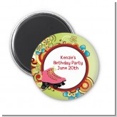 Roller Skating - Personalized Birthday Party Magnet Favors