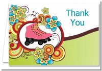 Roller Skating - Birthday Party Thank You Cards