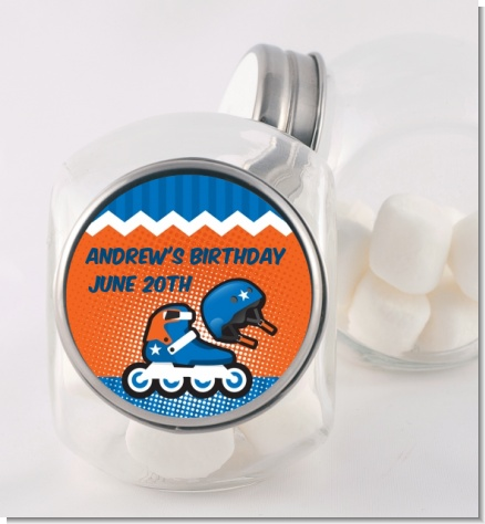 Rollerblade - Personalized Birthday Party Candy Jar