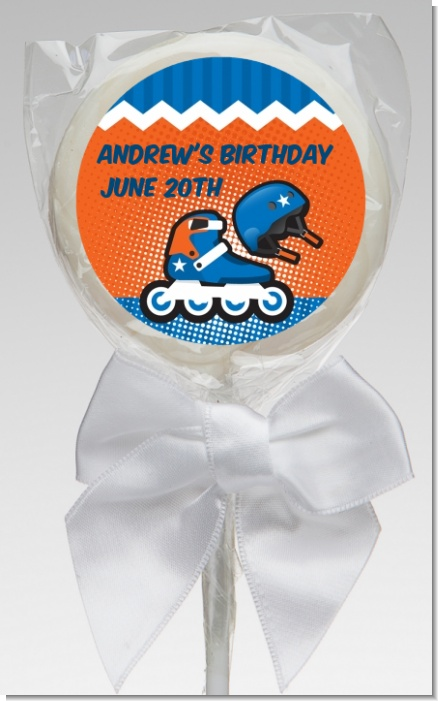 Rollerblade - Personalized Birthday Party Lollipop Favors