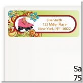 Roller Skating - Birthday Party Return Address Labels