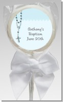 Rosary Beads Blue - Personalized Baptism / Christening Lollipop Favors