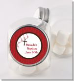Rosary Beads Maroon - Personalized Baptism / Christening Candy Jar