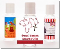 Rosary Beads Maroon - Personalized Baptism / Christening Hand Sanitizers Favors