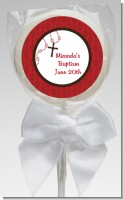 Rosary Beads Maroon - Personalized Baptism / Christening Lollipop Favors