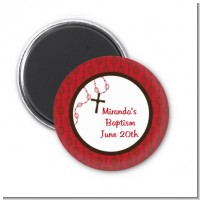 Rosary Beads Maroon - Personalized Baptism / Christening Magnet Favors