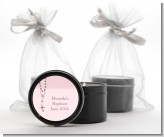 Rosary Beads Pink - Baptism / Christening Black Candle Tin Favors