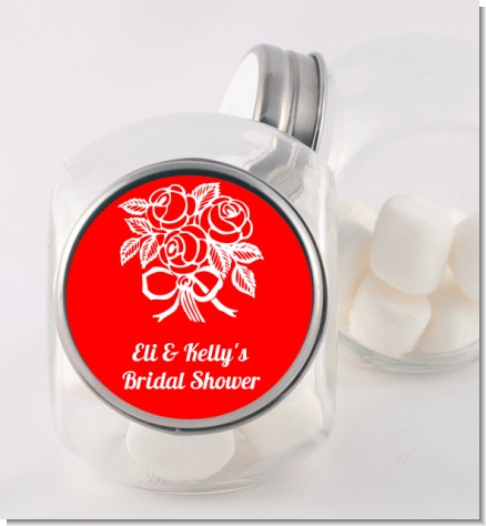 Roses - Personalized Bridal Shower Candy Jar