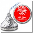 Roses - Hershey Kiss Bridal Shower Sticker Labels thumbnail