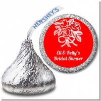 Roses - Hershey Kiss Bridal Shower Sticker Labels