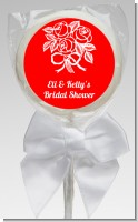 Roses - Personalized Bridal Shower Lollipop Favors