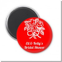 Roses - Personalized Bridal Shower Magnet Favors