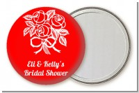Roses - Personalized Bridal Shower Pocket Mirror Favors