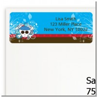 Rock Star Baby Boy Skull - Baby Shower Return Address Labels