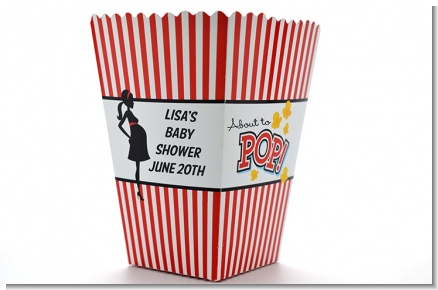 Ready To Pop ® - Personalized Baby Shower Popcorn Boxes
