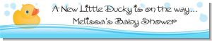 Rubber Ducky - Personalized Baby Shower Banners
