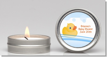 Rubber Ducky - Baby Shower Candle Favors