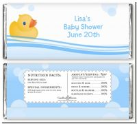 Rubber Ducky - Personalized Baby Shower Candy Bar Wrappers