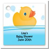 Rubber Ducky - Personalized Baby Shower Card Stock Favor Tags