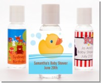 Rubber Ducky - Personalized Baby Shower Hand Sanitizers Favors
