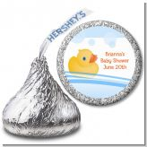 Rubber Ducky - Hershey Kiss Baby Shower Sticker Labels