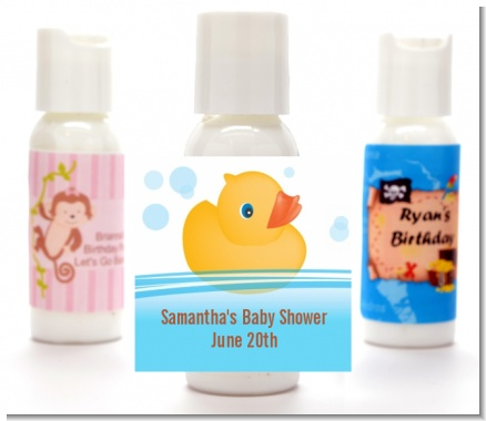 Rubber Ducky - Personalized Baby Shower Lotion Favors