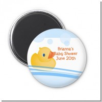 Rubber Ducky - Personalized Baby Shower Magnet Favors