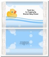 Rubber Ducky - Personalized Popcorn Wrapper Baby Shower Favors