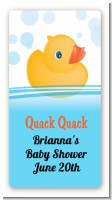 Rubber Ducky - Custom Rectangle Baby Shower Sticker/Labels
