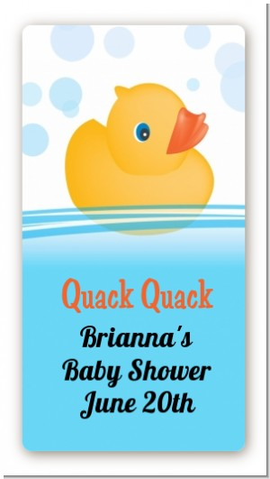 Rubber Ducky Baby Shower Hand Sanitizer Labels