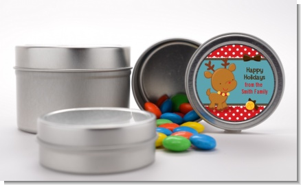 Rudolph the Reindeer - Custom Christmas Favor Tins