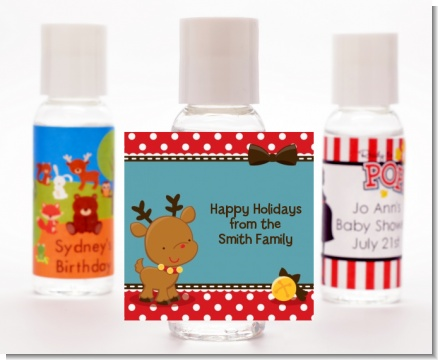 Rudolph the Reindeer - Personalized Christmas Hand Sanitizers Favors