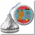 Rudolph the Reindeer - Hershey Kiss Christmas Sticker Labels thumbnail