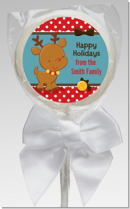 Rudolph the Reindeer - Personalized Christmas Lollipop Favors