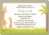 Giraffe - Baby Shower Invitations