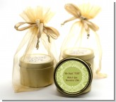 Sage Green - Bridal Shower Gold Tin Candle Favors