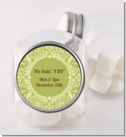 Sage Green - Personalized Bridal Shower Candy Jar