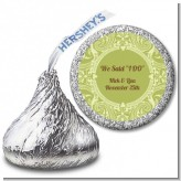 Sage Green - Hershey Kiss Bridal Shower Sticker Labels