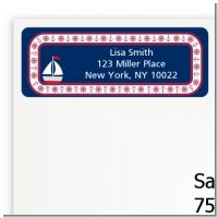 Sailboat Blue - Baby Shower Return Address Labels