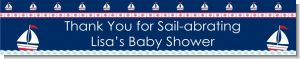 Sailboat Blue - Personalized Baby Shower Banners