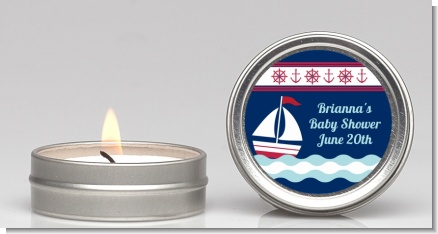 Sailboat Blue - Baby Shower Candle Favors